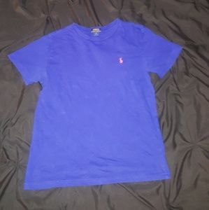 Girls royal blue polo by Ralph Lauren Tee